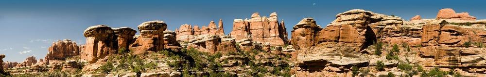 Panorama de Utá dos canyonlands da área das agulhas fotos de stock royalty free
