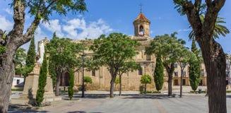 Panorama de Vázquez de Molina Quadrado em Ubeda fotografia de stock royalty free