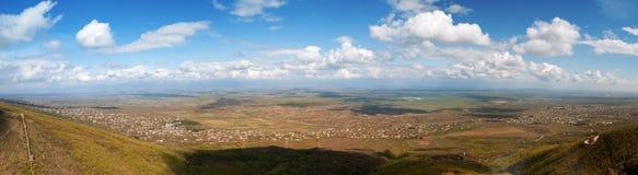 Panorama de vallée d'Alazani Image stock