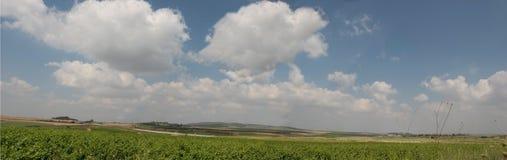 Panorama de vallée d'Ayalon Photo stock