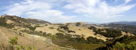 Panorama de vallée de Carmel Image libre de droits