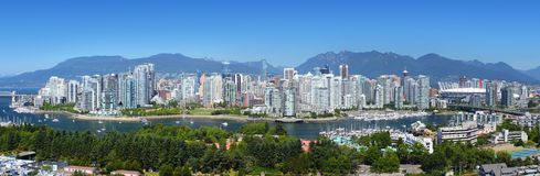 Panorama de Vancouver Photographie stock