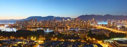 Panorama de Vancouver Photo libre de droits