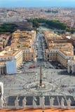 Panorama de Vatican e de Roma Fotos de Stock Royalty Free