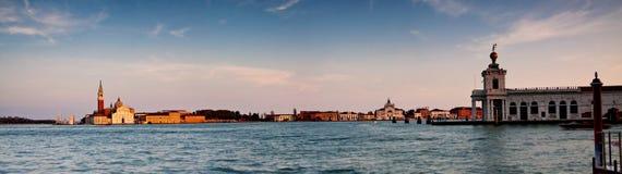 Panorama de Veneza do console de San Giorgio Maggiore Fotos de Stock Royalty Free