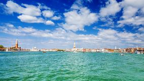 Panorama de Venise et de lagune, Italie photo stock