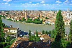 Panorama de Verona, Itali Fotos de Stock Royalty Free