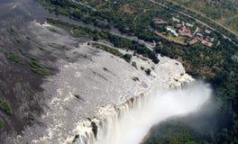 Panorama de Victoria Falls Images stock