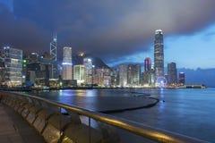 Panorama de Victoria Harbor en Hong Kong Fotografía de archivo libre de regalías