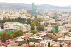 Panorama de vieille ville de Tbilisi Image libre de droits