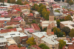 Panorama de vieille ville de Tbilisi Photographie stock