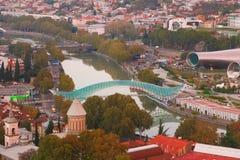 Panorama de vieille ville de Tbilisi Photographie stock libre de droits
