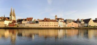 Panorama de vieille ville Ratisbonne photographie stock libre de droits