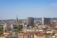 Panorama de Viena Imagen de archivo libre de regalías