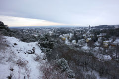Panorama de Viena e de Perchtoldsdorf fotos de stock