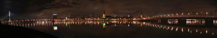 Panorama de vieux Riga Image libre de droits