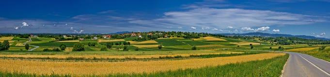 Panorama de village d'Erdovec images libres de droits