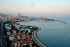 Panorama de ville à qingdao Photo libre de droits