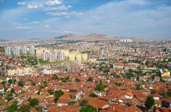 Panorama de ville d'Ankara, Turquie Photographie stock