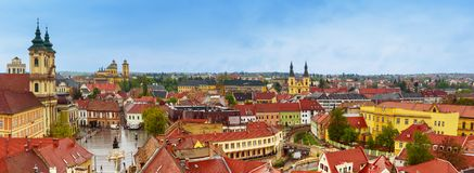 Panorama de ville d'Eger Photographie stock libre de droits