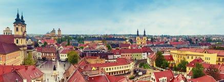 Panorama de ville d'Eger Photographie stock