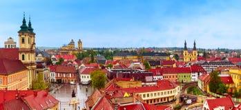 Panorama de ville d'Eger Photos stock