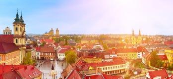 Panorama de ville d'Eger Images stock