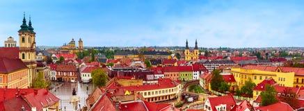 Panorama de ville d'Eger Images libres de droits
