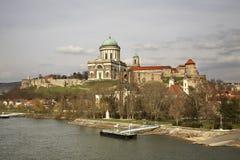 Panorama de ville d'Esztergom hungary image libre de droits