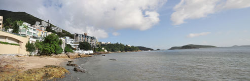 Panorama de ville de côte de Hong Kong Images stock
