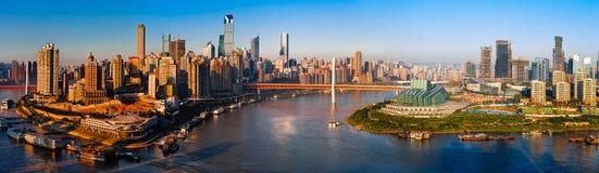 Panorama de ville de Chongqing Photographie stock libre de droits