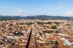 Panorama de ville de Florence Images libres de droits