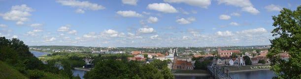 Panorama de ville de Kaunas Image libre de droits
