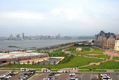Panorama de ville de Kazan Images stock