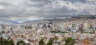 Panorama de ville de La Paz Photos libres de droits