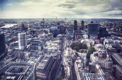 Panorama de ville de Londres photographie stock libre de droits