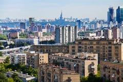 Panorama de ville de Moscou Images libres de droits