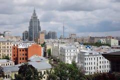 Panorama de ville de Moscou photos libres de droits