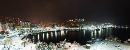 Panorama de ville de nuit Photo stock