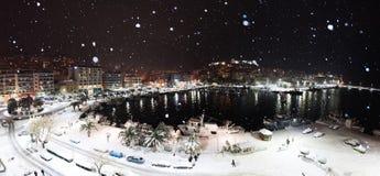 Panorama de ville de nuit Image libre de droits