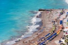 Panorama de ville de Rhodes photos libres de droits