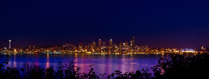 Panorama de ville de Seattle Images libres de droits