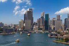 Panorama de ville de Sydney Images libres de droits