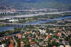 Panorama de ville de Vienne en été Photo libre de droits