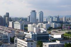 Panorama de ville de Zhejiang de la Chine Photographie stock