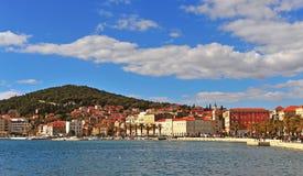 Panorama de ville historique de fente, Dalmatie Photo stock