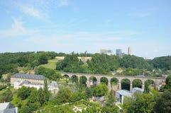 Panorama de ville Luxembourg photo libre de droits