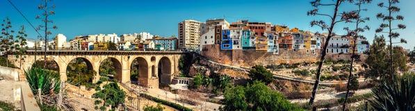 Panorama de ville pittoresque de ville de Villajoyosa Photos stock