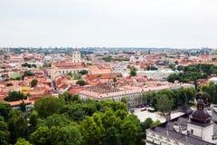 Panorama de Vilna Imagen de archivo libre de regalías