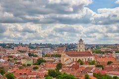 Panorama de Vilnius Imagem de Stock Royalty Free